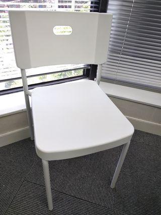 全新白色椅 $39
