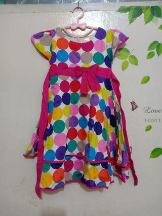 Dress Anak polkadot