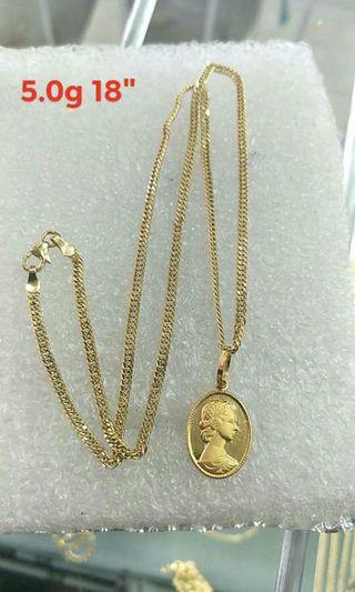 saudi gold 18k necklaces trendy