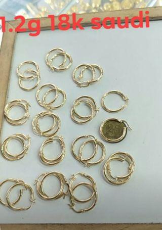 saudi gold 18k earrings