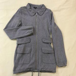 Preloved JASPAL Grey Long Zipped Pocket Jacket