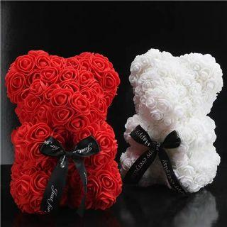 Handmade rose teddy bear #love #gifts #romantic