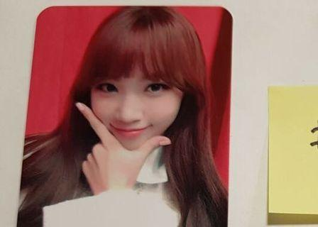 WTB izone chaewon broadcast photocard
