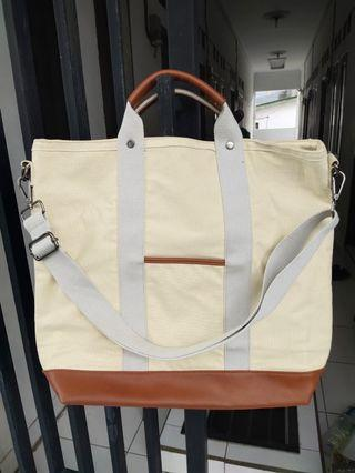 Tote Bag: ZALORA Tote Bag Khaki