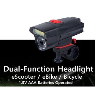 Dual Function LED Headlight for scooter ebike Bicycle