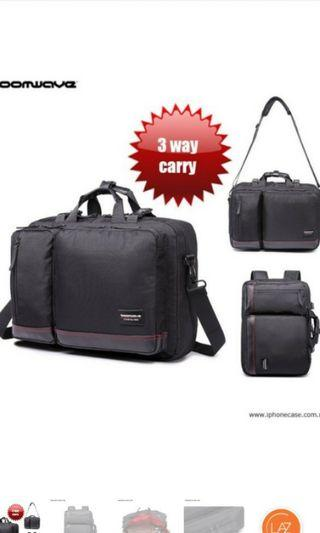 Boomwave 3 way briefcase and backpack #carouraya