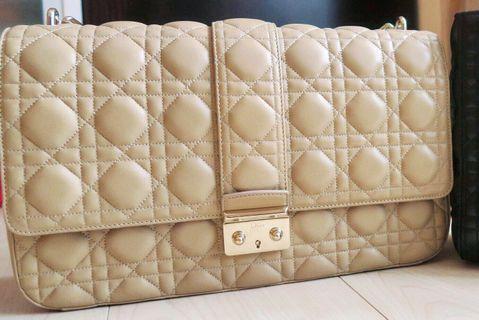 Miss Dior Beige Flap Bag