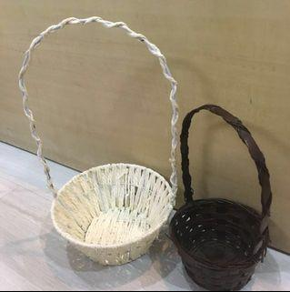 2  small  hamper baskets