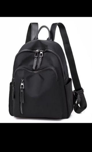 Nylon Backpack for School Preppy Style