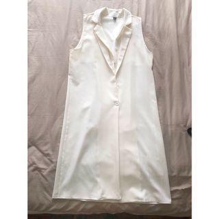 Off white long vest