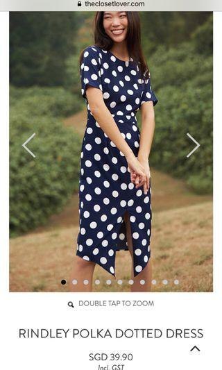 Closet lover rindley polka dot dress