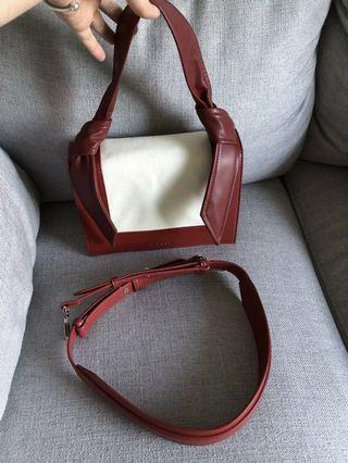 Charles & Keith Knotted Strap Bag - Red