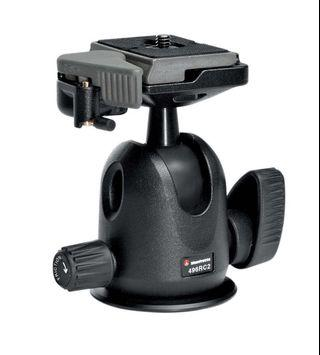 🚚 Manfrotto Tripod Ballhead with RC2 Quick Release Plate | 496RC2