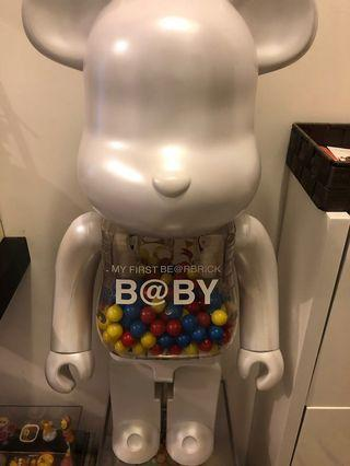 Bearbrick 90%new 千秋baby 1000%有盒小花