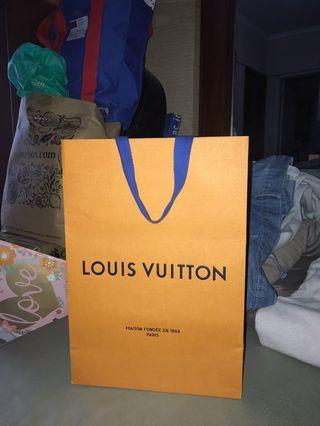 Louis Vuitton Paper Bag Authentic