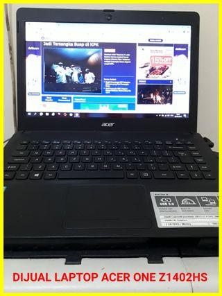 Di Jual Murah Laptop Acer One Z1402 C4hs Kondisi 95% Bagus Mulus