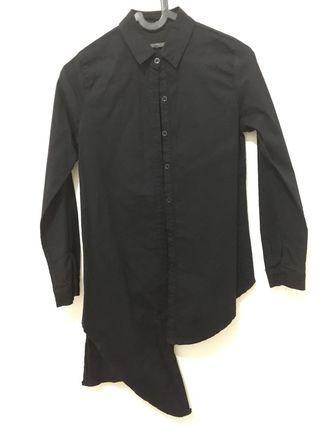Assymetrical Black Shirt