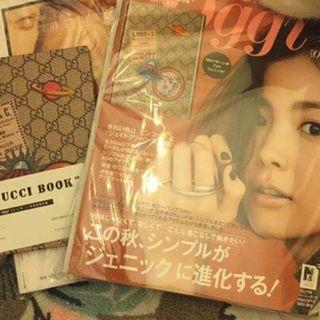 全新oggi日雜 附錄Gucci精裝筆記本