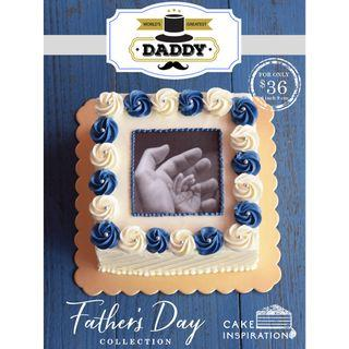"""Father's Day Design B - """"In His Caring Hands"""" Cake"""