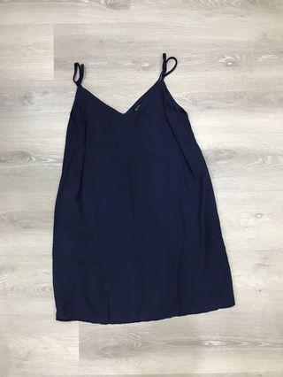 🚚 Navy Blue Slip Dress