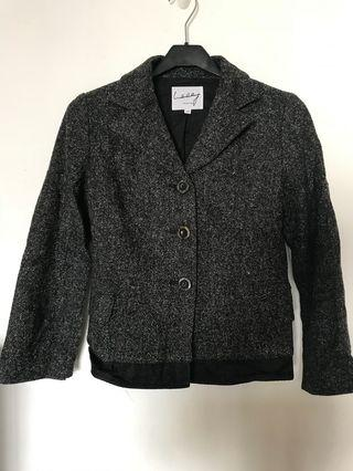Cheung collection by lulu Cheung wool blazer 黑白羊毛外套 西裝褸