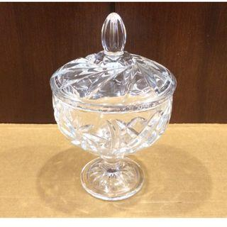Cheap! DECORATIVE Glass Footed Bowl-Vase With Cover