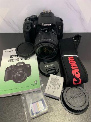 🚚 「花枝女」二手 Canon EOS 700D 18-55mm 單眼相機