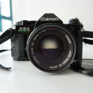 Canon AE-1 Program and Canon FD 50mm 1:1.4 S.S.C.