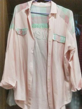 🚚 韓版襯衫(也可當外套 罩衫