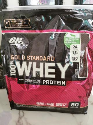 On Gold Standard 100% Whey protein. NO ARTIFICIAL GROWTH HORMONES