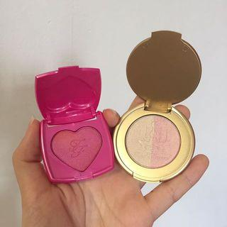 (Set) BN Authentic Too Faced Blusher & Highlighter