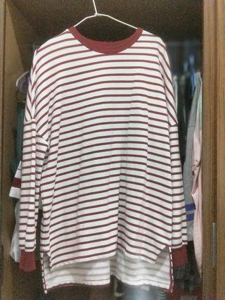 🚚 紅條紋上衣