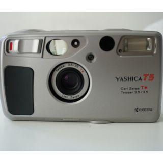 Yashica T5 in Silver w/ Carl Zeiss Tessar 35mm F3.5 lens