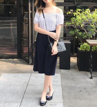 Sabrina black & white strip