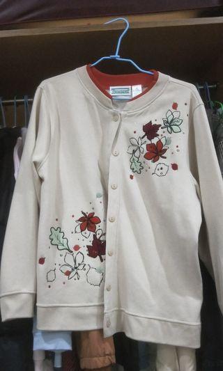 🚚 花刺繡保暖外套