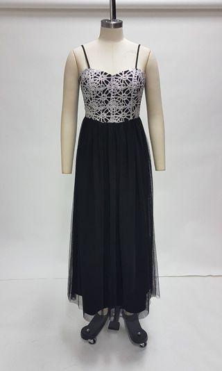 Spaghetti Strap Sequined Maxi Dress