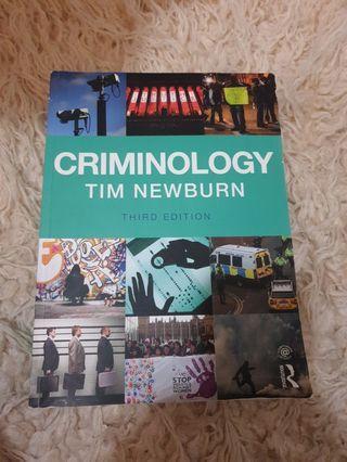 Criminology Tim Newburn 3rd Edition