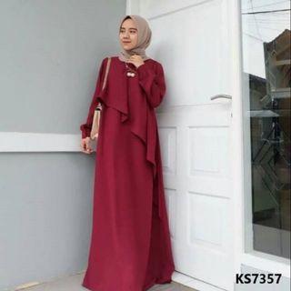 RAYA PROMO Maroon Modern Modest Muslimah Dress
