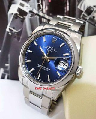 ROLEX Oyster Perpetual Lady 34 Date Automatic Blue dial