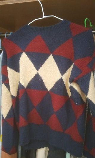 🚚 菱形格子毛衣