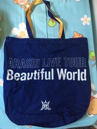 嵐 ARASHI LIVE TOUR BEAUTIFUL WORLD TOTE BAG