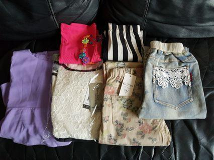 🚚 Bundle Deal (Size 150 for 9-10yo) - Brand New Girls Apparels