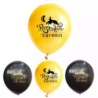 🚚 12 Inch RAMADAM KAREEM Muslim Islamic Party Decoration Latex Balloons