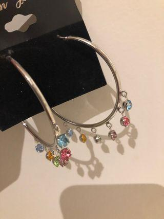 A Pair of Coloured Earrings - Brand New
