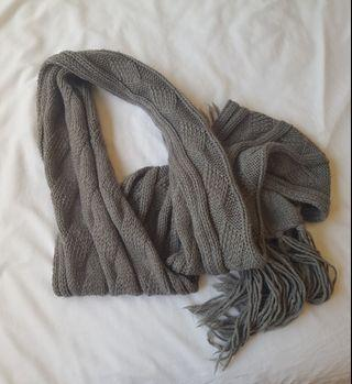 Kookai grey scarf wool knit