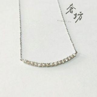 一字排鑽鑽石鎖骨鍊 0.50ct 鎖骨鍊 鑽石項鍊 輕珠寶 鑽鍊 奢坊精品