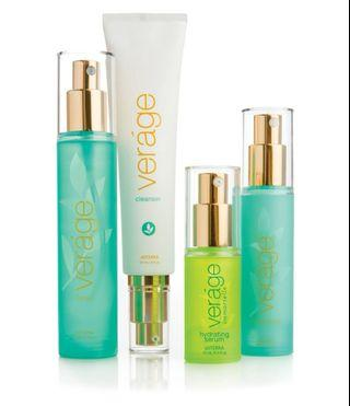 🚚 Veráge Skin Care Collection with cleanser, toner, hydrating serum and moisturizer