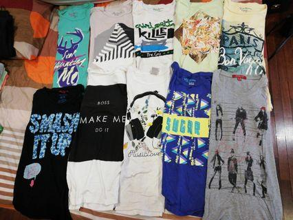 10 FOR RM 50. ONE FOR RM 6. Printed Tshirts