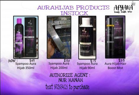🚚 (*FREE DELIVERY) INSTOCK AURAHIJAB SHAMPOO AND CONDITIONER  WITH PERFUME