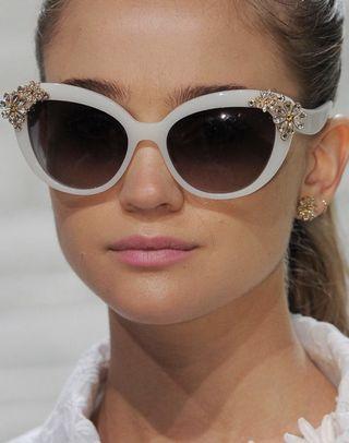 Kate Spade Karyna/S Sunglasses White Crystal Cat Eye